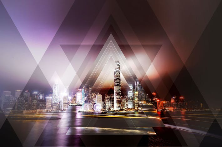 Thumbnail for Geometric Haze 2 Photoshop Action