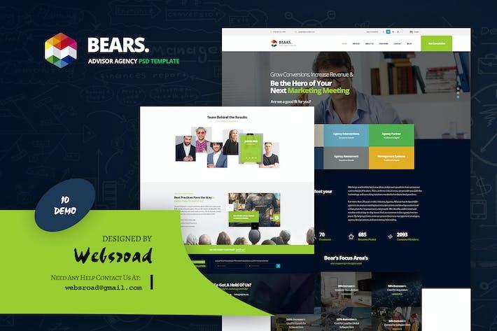Cover Image For Bear's - Advisor Agency PSD Template