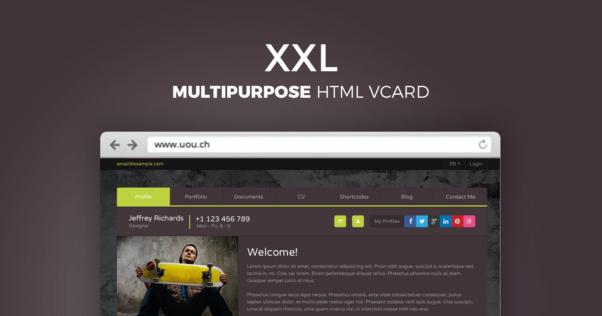 Download XXL - Multipurpose HTML vCard by DirectoryThemes