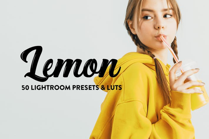 Cover Image For 50 Lemon Yellow Lightroom Presets & LUTs