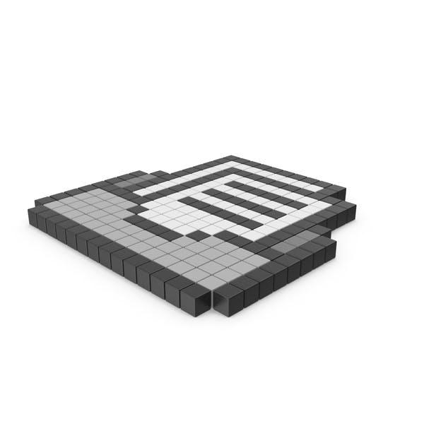 File Box Pixelated Icon