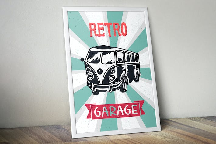 Thumbnail for Retro Bus Print
