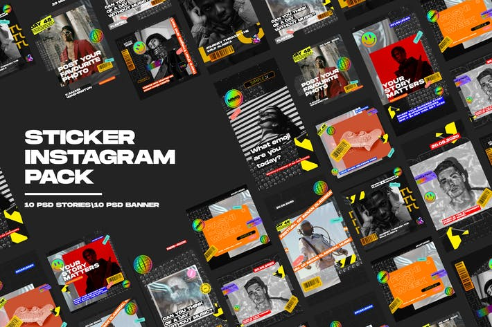 Aufkleber Instagram Pack