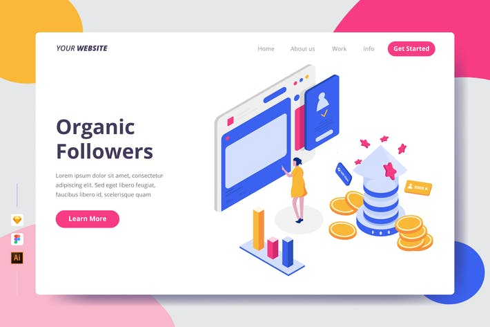 Thumbnail for Organic Followers - Landing Page
