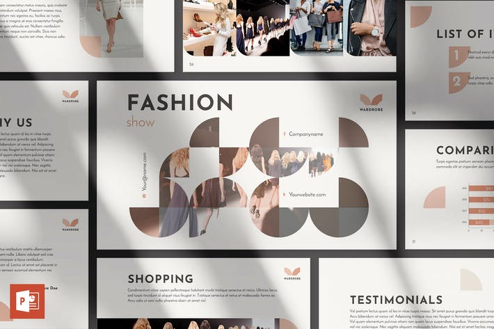 Thumbnail for Fashion Show PowerPoint Presentation Template