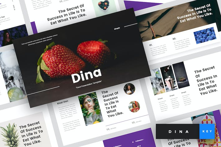 Cover Image For Dina - Food Keynote Template