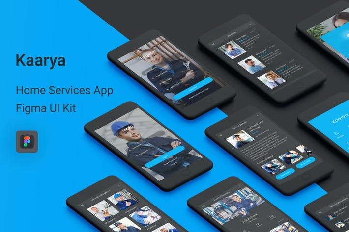 Thumbnail for Kaarya - Home Services Figma UI Kit