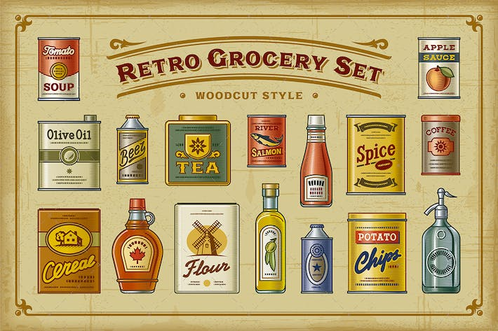 Thumbnail for Retro Grocery Set