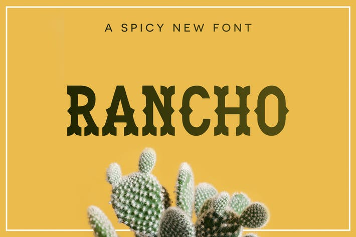 Cover Image For Rancho Font