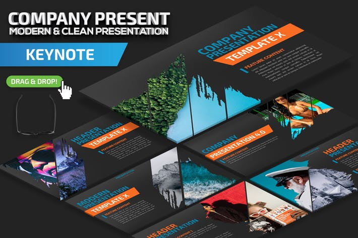 Шаблон презентации Keynote компании