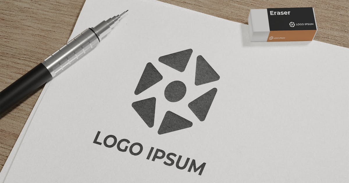 Download sketch paper logo mockup by Graphicxell