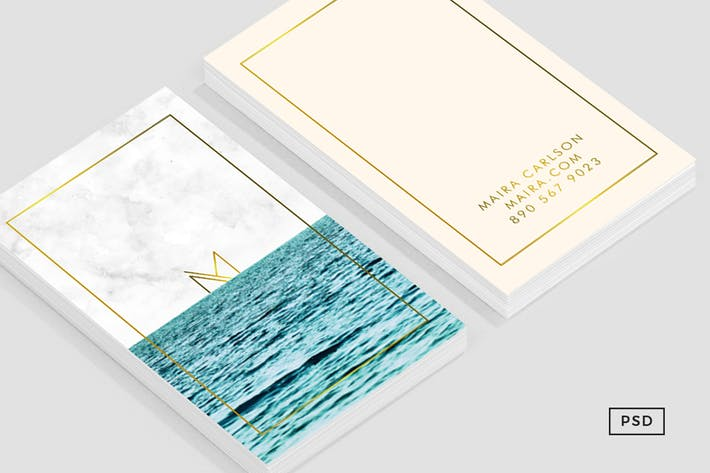 Thumbnail for Ocean Business Card Template