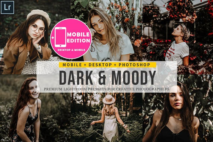 Thumbnail for Dark and moody Lightroom Presets