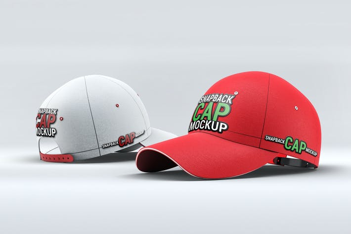 Thumbnail for Snapback Baseball Cap Mock-Up