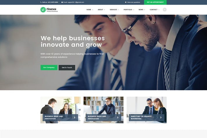 Thumbnail for Finance - Consulting, Accounting HTML Template