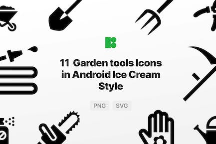 Garden tools Icons in Android Ice Cream Style