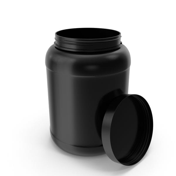 Botellas de Plástico Boca Ancha Galón Negro Abierto