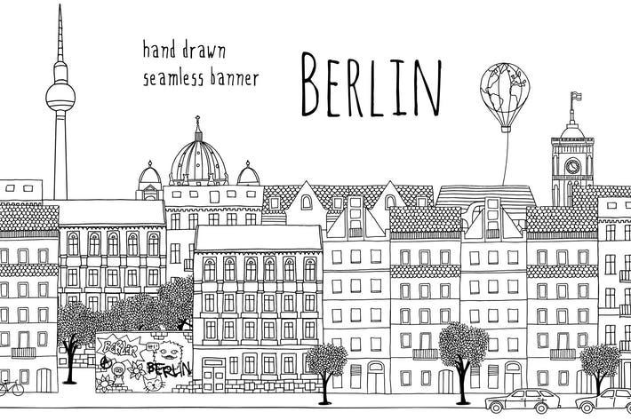 Thumbnail for Berlin - Seamless Banner
