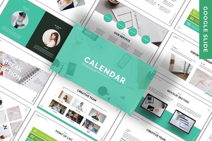 Thumbnail for Calendar - Business Google Slide Template