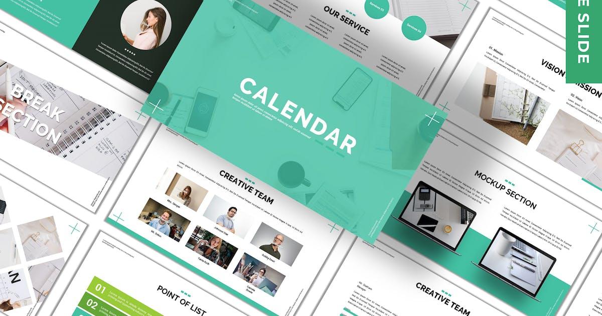 Download Calendar - Business Google Slide Template by 83des