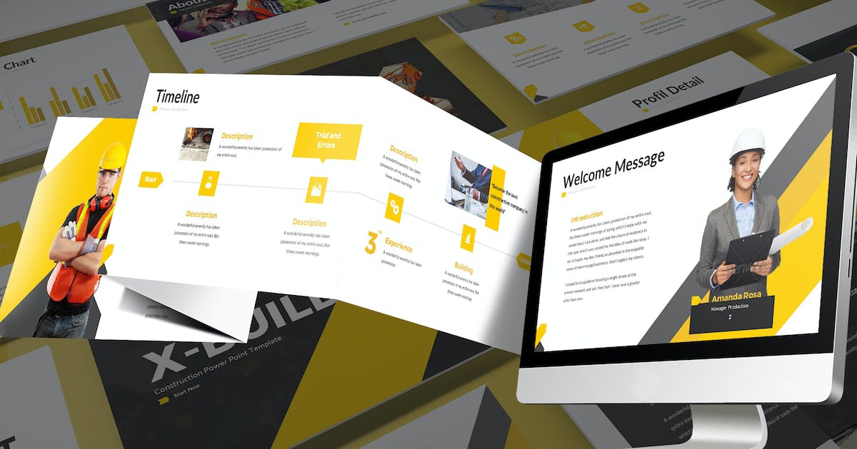 Download X-Build - Bold Google Slides Template by SlideFactory