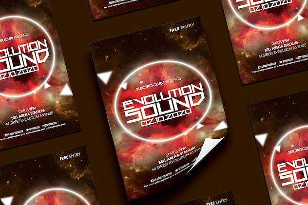 Evolutiom Sound Flyer
