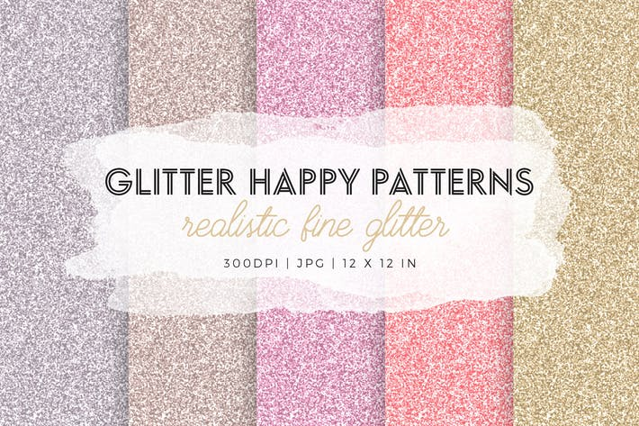Cover Image For Glitter Happy Patterns