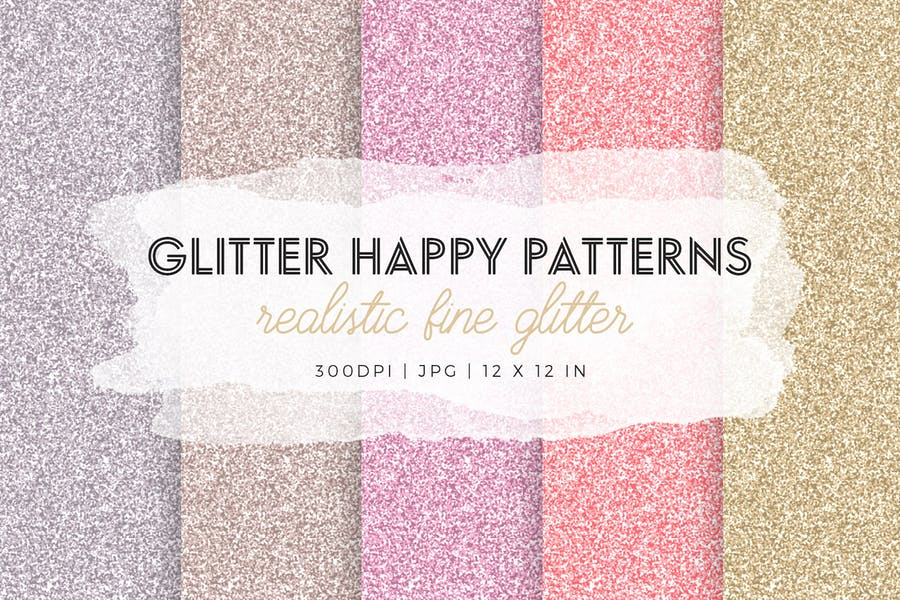Glitter Happy Patterns