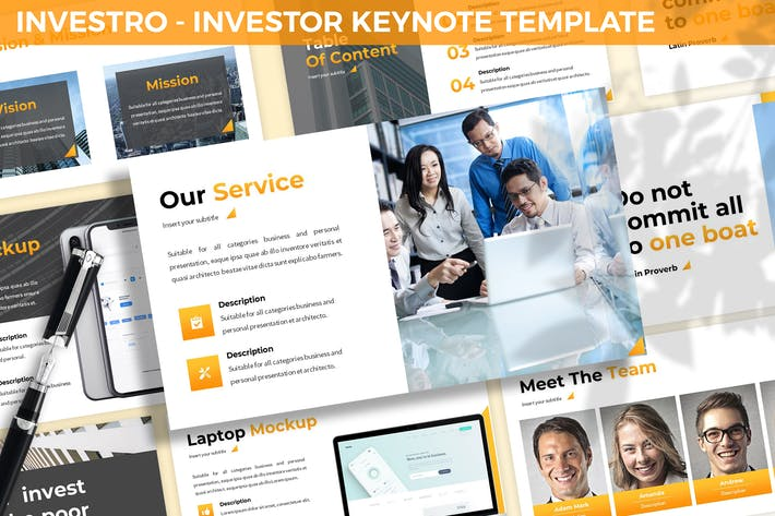 Thumbnail for Investro - Investor Keynote Template
