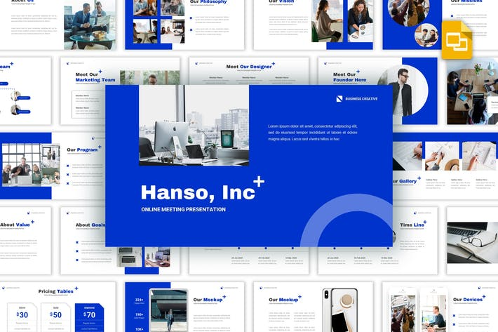 Thumbnail for Hanso - Business Google Slides Template