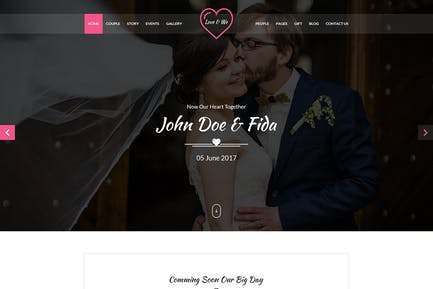 Love & We Wedding PSD Template