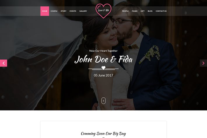 Thumbnail for Love & We Wedding PSD Template