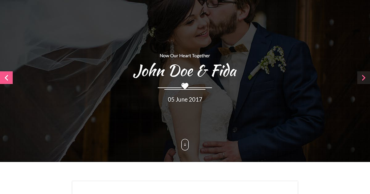 Download Love & We Wedding PSD Template by codecarnival