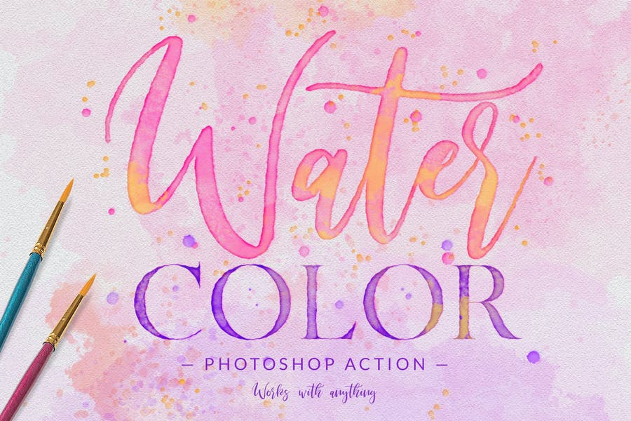 Watercolor Painting - Photoshop Action