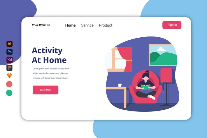 Thumbnail for Activity At Home - Landing page