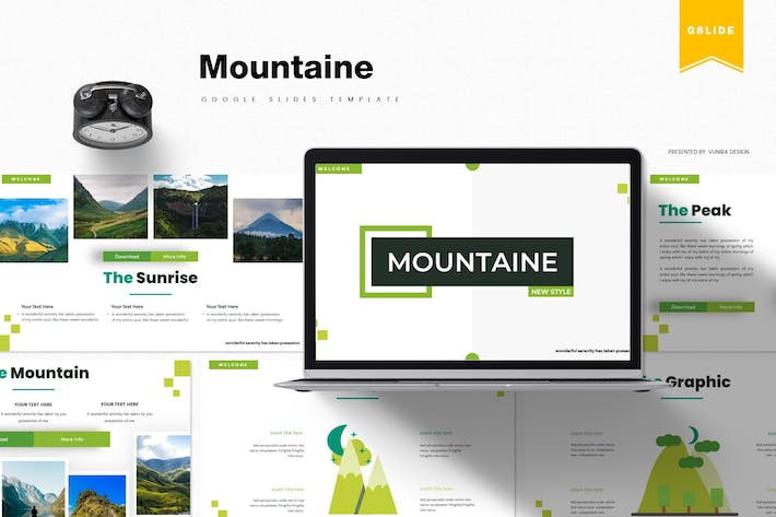 Thumbnail for Mountaine | Google Slides Template