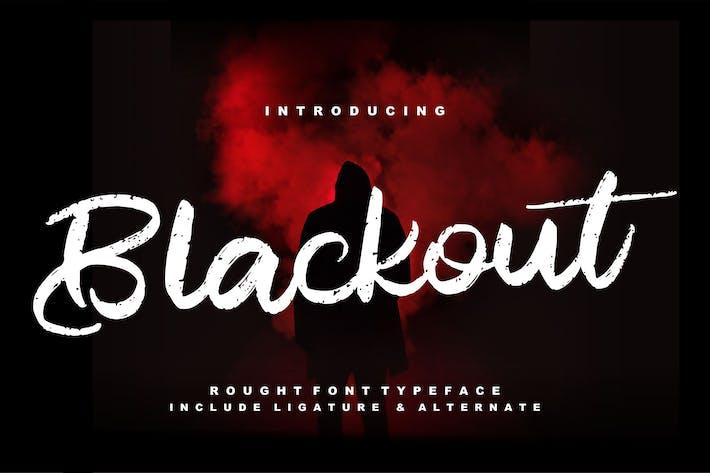 Thumbnail for Blackout | Police de script rugueux