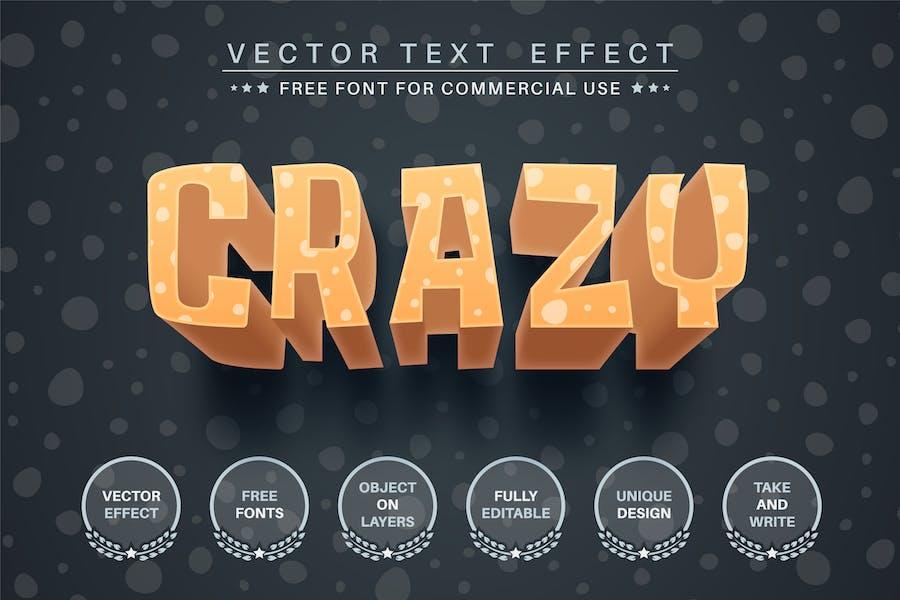 3D Crazy - editable text effect, font style