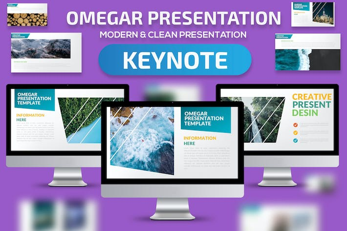 Thumbnail for Omegar Keynote Presentation Template