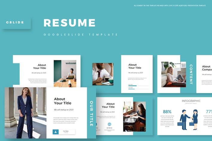 Thumbnail for Resume - Google Slide Template