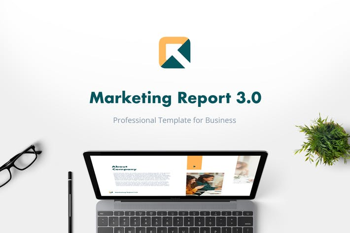 Thumbnail for Marketing Report 3.0 PowerPoint Template