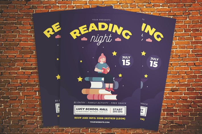 Thumbnail for Reading Night Flyer