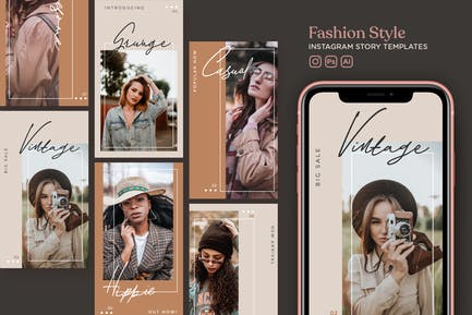 Fashion Style Instagram Story Templates