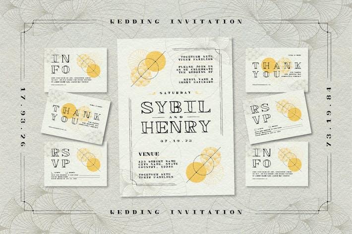 Thumbnail for Spasi Monospaced Wedding Invitation Suite Set