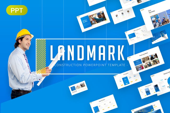 Cover Image For Landmark Construction PowerPpoint Template