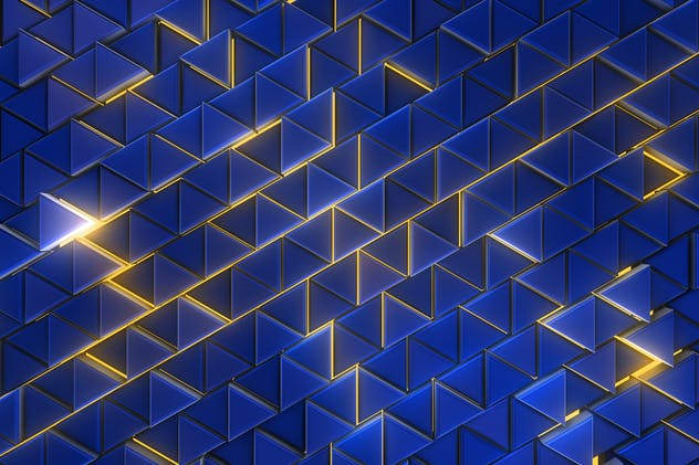 Glowing Triangles Background