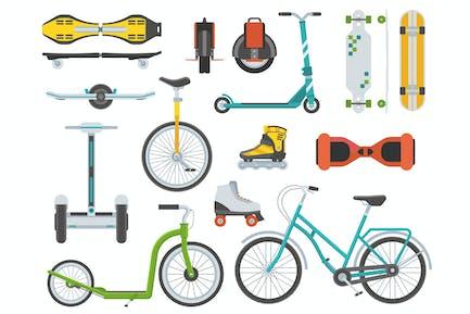 Alternative städtischer Umweltfreundlicher Verkehr
