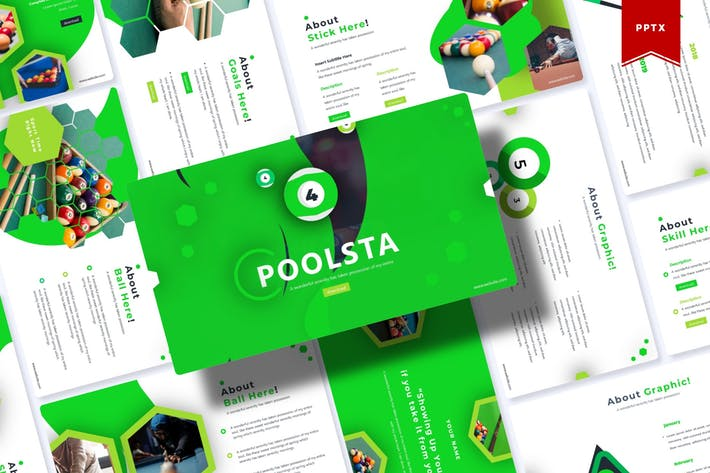 Thumbnail for Poolsta | Шаблон Powerpoint