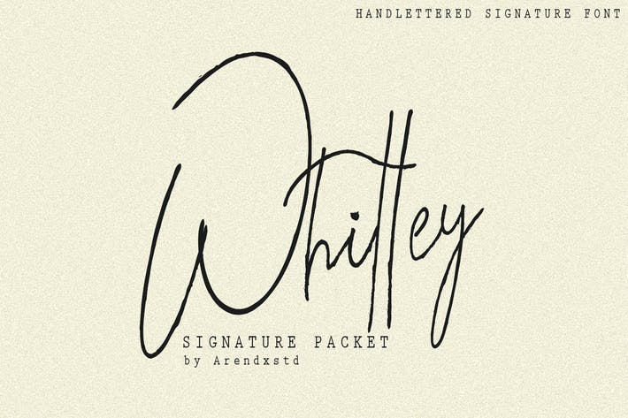Thumbnail for Tipo de letra Whitley Signature