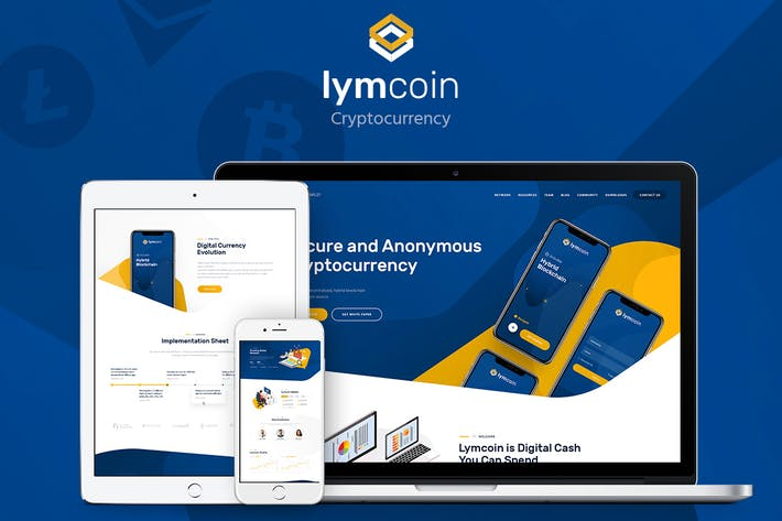 Thumbnail for Lymcoin - Cryptocurrency & ICO WordPress Theme